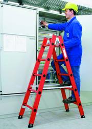 Leitern aus Vollkunststoff: Isolierend und säurefest