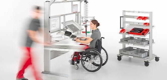 Behindertengerechte Arbeitsplätze