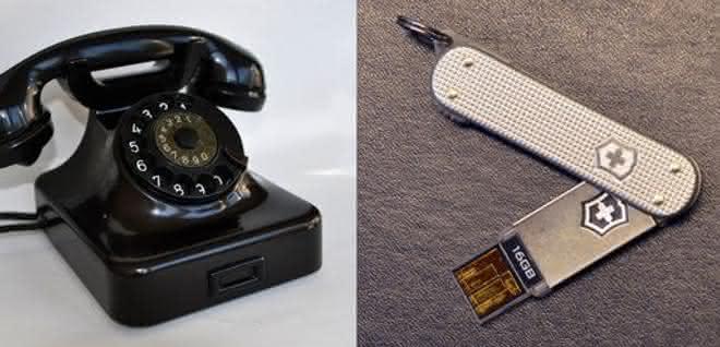 Wählscheibenapparat, USB-Speicherkarte