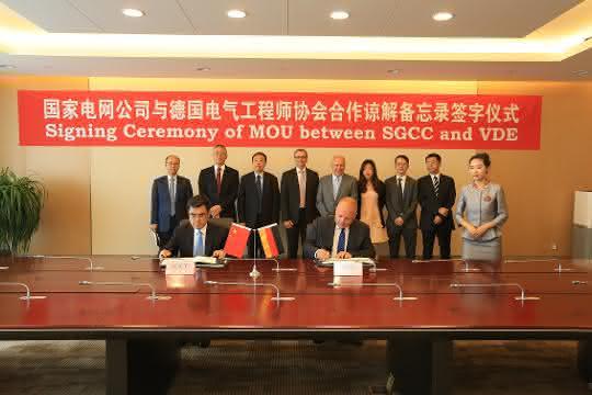 Zusammenarbeit von State Grid China und dem VDE