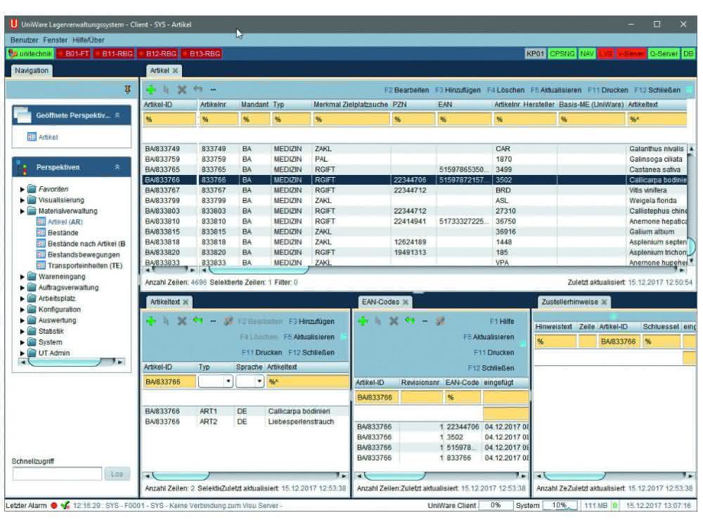 Marktübersicht 25: Unitechnik Systems: UniWare-WMS