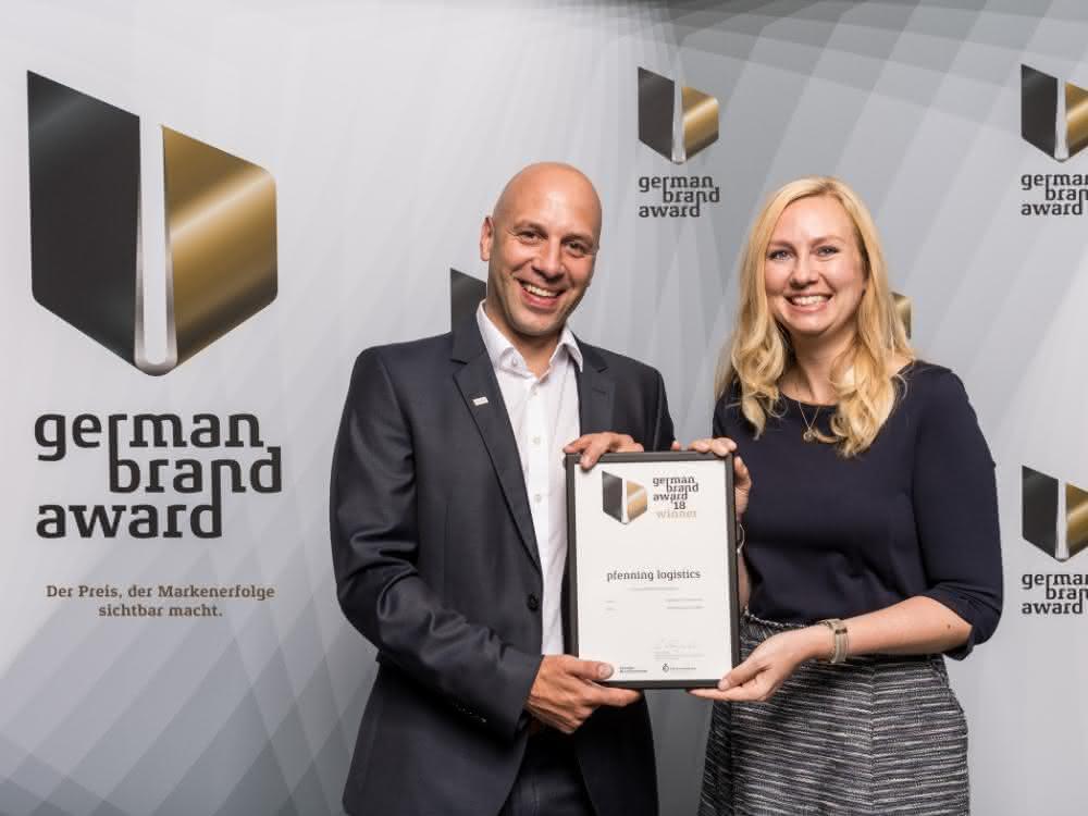 Lager- und Regalsysteme: pfenning logistics freut sich über German Brand Award