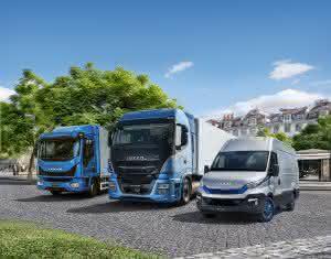 Iveco hat vom leichten Transporter über Busse bis zum Baustellenfahrzeug mit 50 Tonnen zGG ein komplettes Angebot an Methangas-Fahrzeugen für nahezu jede Transportaufgabe.