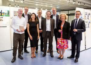 Wanderausstellung zum Deutschen Ziegelpreis 2017 im Architekturgebäude der TU Berlin: