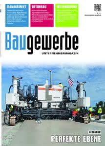 E-Paper: Baugewerbe Unternehmermagazin 9/2017