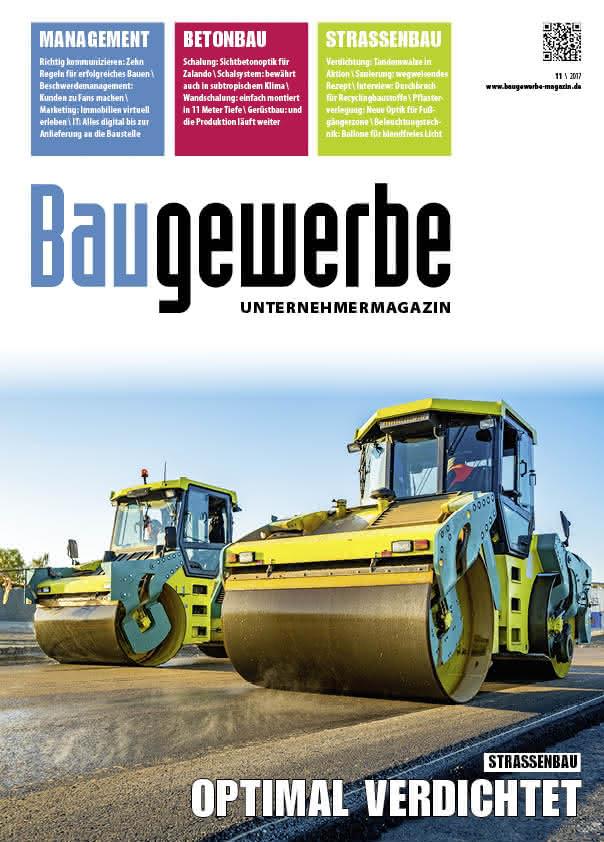 Baugewerbe 11/2017 Titelseite