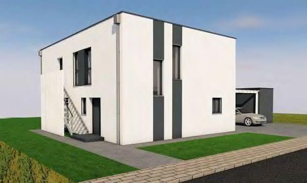Passivhaus im puristischen Bauhausstil