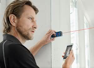 Laser Entfernungsmesser Iphone : Krane und hebebühnen bosch laser entfernungsmesser glm c