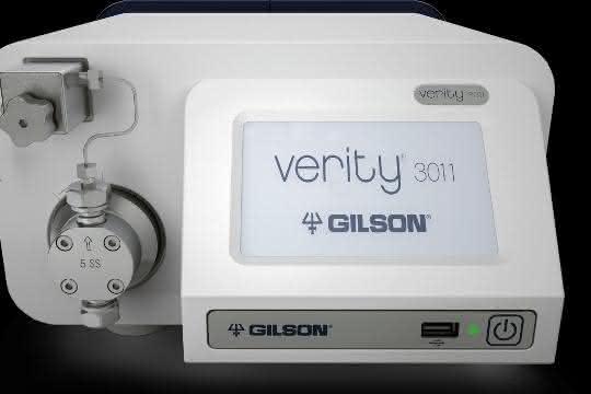 Die isokratische Pumpe Verity® 3011 von Gilson unterstützt die Aufreinigung von Proben.