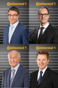 Barry Guildford (l.o.), Daniel Gainza (r.o.), Herbert Mensching (l.o.) und Ralf Benack (r.u.). (Abb.: Continental)