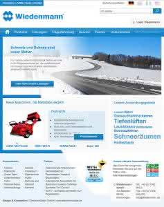Komplett neu: Das informative Webangebot des Maschinenbauers Wiedenmann mit optimierten Abläufen für Kunden, Interessenten und Händler (Abb.: Wiedenmann)