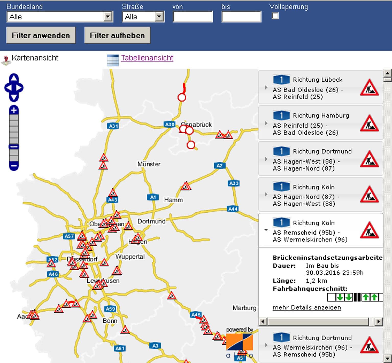 Krane und Hebebühnen: BASt: Streckenplanung vereinfacht