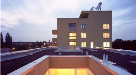 Baustelle: Wohnsiedlung in München saniert