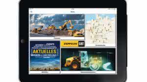 Genauso wie die neue Zeppelin-Cat-App für das iPhone liefert die kostenlose Version für das iPad Daten zu neuen und gebrauchten Baumaschinen sowie zum Unternehmen und seinen geschäftlichen Aktivitäten. (Abb.: Zeppelin)