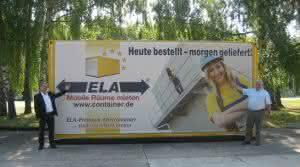 Krane und Hebebühnen: ELA: Container in Feuchtwangen ausgestellt