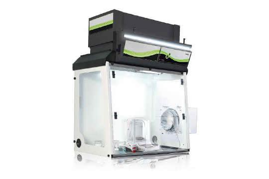 Explorer Semi-Micro-Waage und Filterabzugshaube Captair 391Smart von Ohaus
