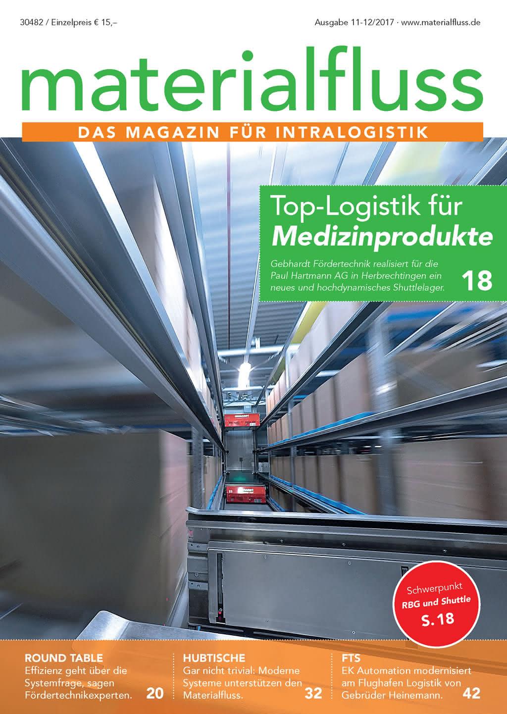materialfluss 11-12/2017 Titelseite