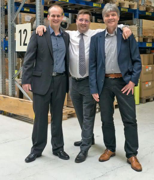 Michael Tillner mit seinen Kollegen