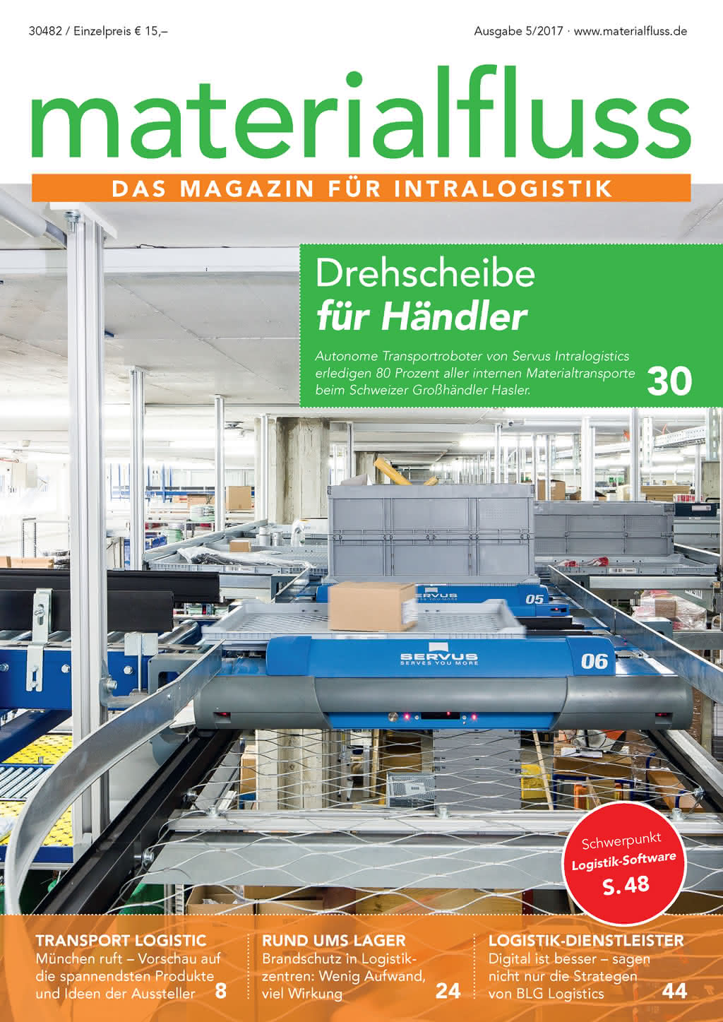 Materialfluss Titelseite Ausgabe 05/2017