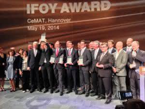 Die Sieger der Preisverleihung IFOY Award 2014 auf der CeMAT