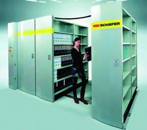 Erg onomisch, schnell und sicher – das sind die  Vorteile der Leichtlast-Verschiebe- regalanlage ELX  von SSI Schäfer.