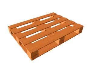 Holzpalette freigestellt