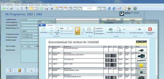 Datenmanagementsystem FactoryDirector