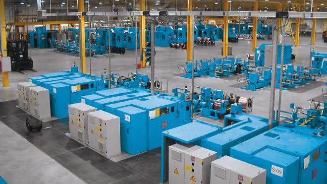 Niehoff-Maschinen in einer Halle