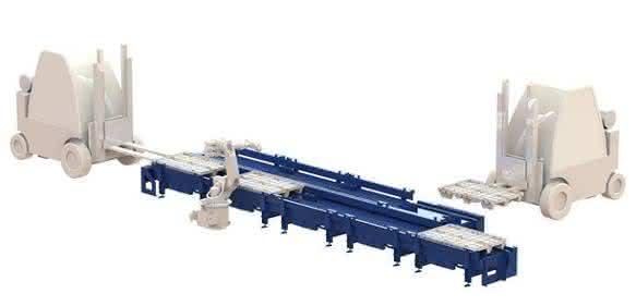 Produktionslogistik und Zuführtechnik für kompakte Roboterzellen