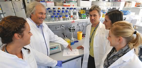 Mitarbeiter der Immunmodulatorischen Abteilung der FAU. (Bild: Rabenstein/Uni-Klinikum Erlangen)