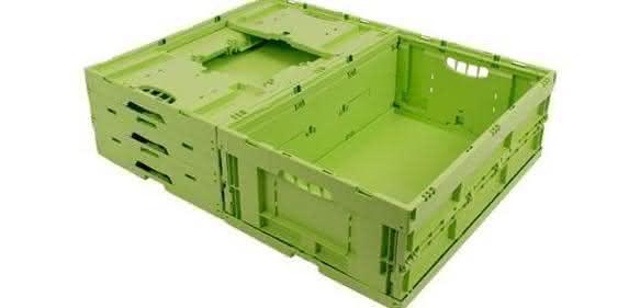 Der Behälter Greenline Bio ist eine Faltbox