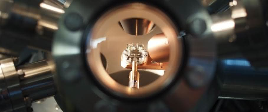 Einblick in die Ultrahochvakuumkammer
