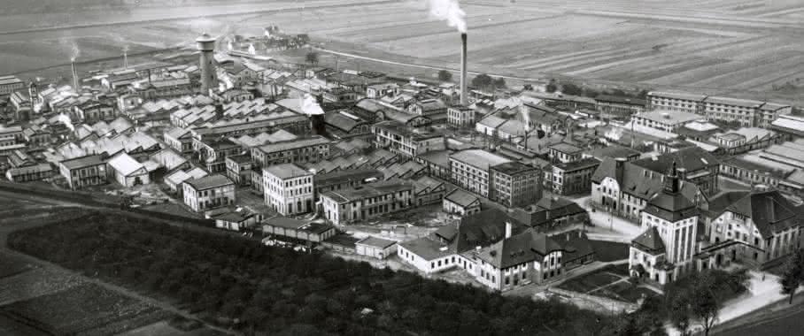 Neue Merck-Fabrik in Darmstadt, 1913.