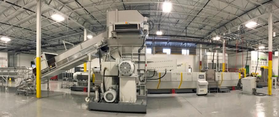 Die bisher größte von NGR gelieferte Recyclinganlage soll mehr als 1800 Kilogramm pro Stunde verarbeiten. (Bild: NGR)