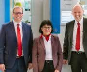 Die aktuelle Geschäftsführung mit (v.l.) COO Carsten O'Beirne, CFO Anja Zschernig und CEO Thomas Herrmann. (Bild: Herrmann Ultraschall)
