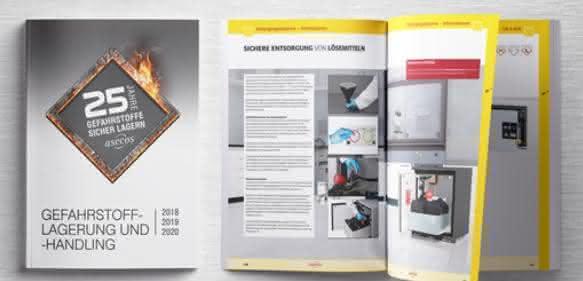 """Jubiläums-Katalog """"Gefahrstofflagerung und -handling"""" von Asecos"""