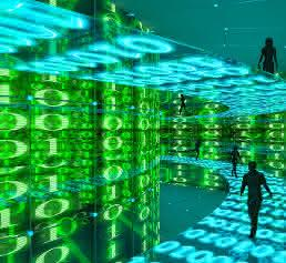 Abstraktes Bild Daten und Menschen
