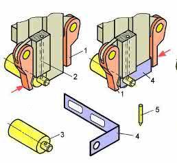 Montagegreifer für das Fügen einer Schalterwelle im Greifer