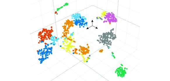Darstellung des Fingerabdrucks der Genexpression jeder einzelnen Zelle ...