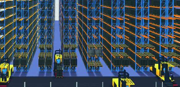 3D-Simulation Schmalganglager