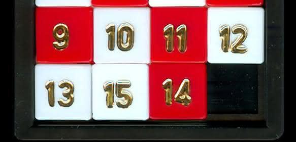 Kult-Spiel 15er-Puzzle