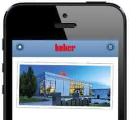 Für Smartphones und Tablets: Huber mit neuer mobiler Website