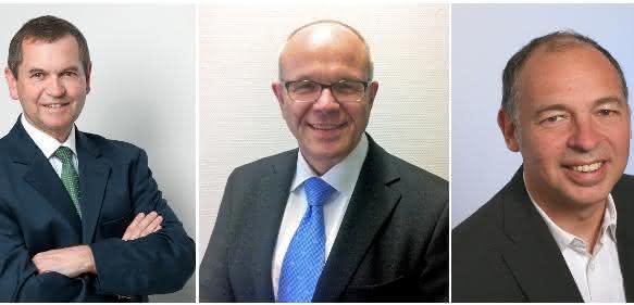 (Von links) Martin Fabian, Michael Thiessenhusen und Bernd Schäfer bilden den Vorstand des Masterbatch-Verbands. (Bild: VDMI)