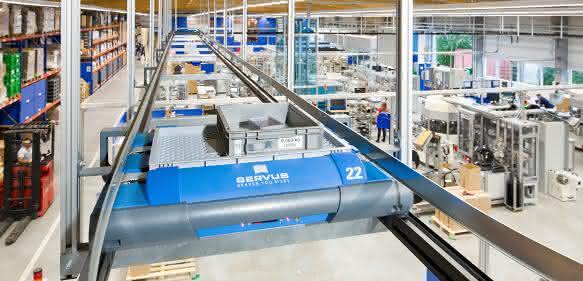 Servus-Produktionshalle