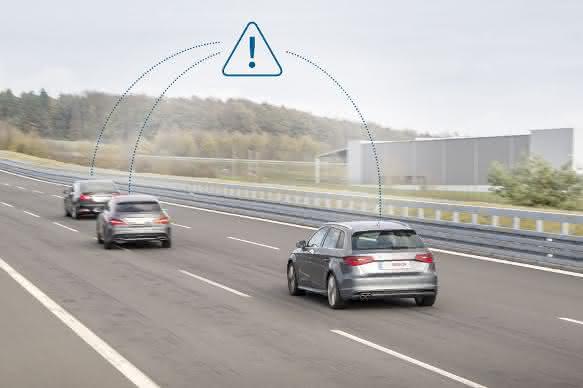 """Fahrerassistenzsysteme: """"Mobilfunkgespräche"""" unter Autos"""