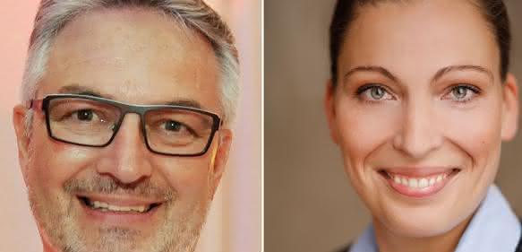 Manfred Fuchs, Bereichsleitung Vertrieb, (links) und Katja Boedecker, Leitung Innendienst