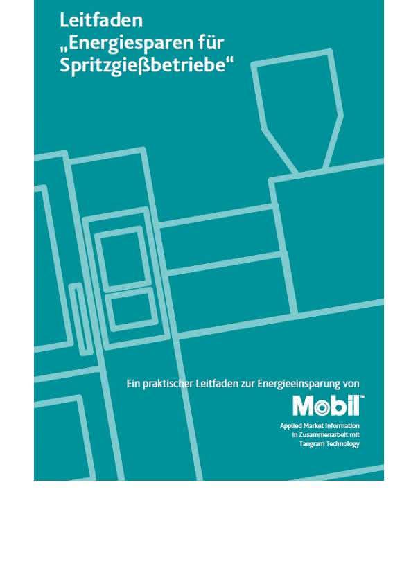 Energiesparen für Spritzgießbetriebe: 16 Seiten umfasst der Leitfaden mit kompakten Informationen. (Bild: Exxonmobil)