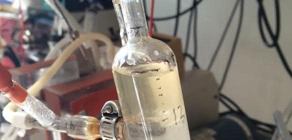 Sauermolke im Labor