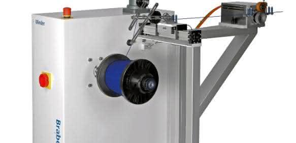 Wickelvorrichtung für Extrusionsprozesse im Labor, aber auch in der Herstellung von Filamenten für den 3D-Druck. (Bild: Brabender)