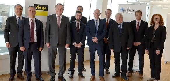 Feierliche Übergabe der neuen Viega-Büros im Invention Center am RWTH Aachen Campus.
